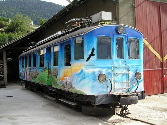Chemin de fer Aigle - Sépey - Diablerets (ASD) / Transports Publics du Chablais (TPC), BDe 4/4 1, Aigle-Dépôt ASD (VD)