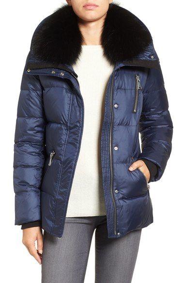 ANDREW MARC 'Chloe' Down Coat with Genuine Fox Fur Trim. #andrewmarc #cloth #