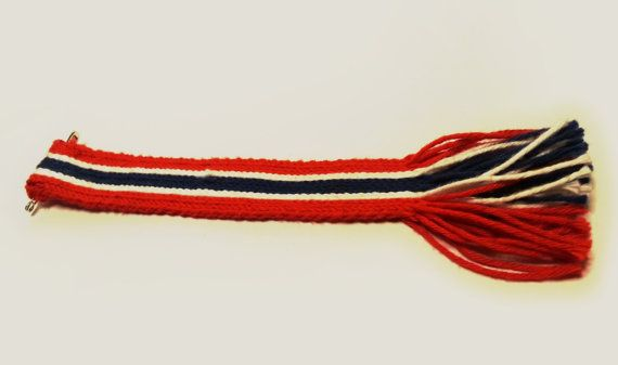 17th of May ribbon Tablet woven Norwegian flag by CROWbyRosvald
