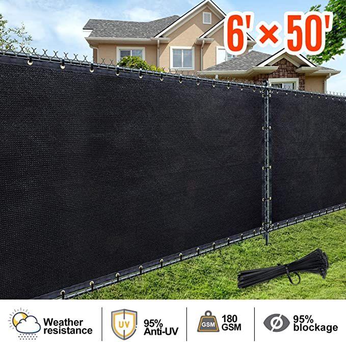 Amazon Com Aofeiga 6 50 Privacy Fence Screen Heavy Duty Uv Protection Mesh Deck Patio Backyard Outdoor Fence In 2020 Patio Deck Privacy Fence Screen Backyard Patio