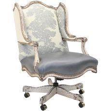 Just Another Office Chair Old Hickory Tannery Silver Jacquard Winged Executive