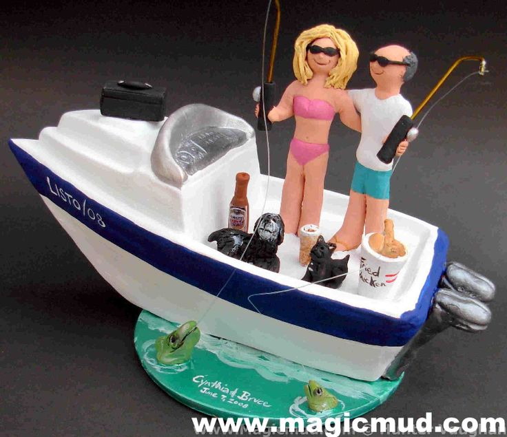 "www.magicmud.com 1 800 231 9814 $250 mailto:magicmud@m... blog.magicmud.com twitter.com/... www.facebook.com/... $250#yacht#fishing#pets#canoe#boat#powerboat#raft#""fishing_boat""#motor_boat#sailboat#boating #wedding #cake #toppers #custom #personalized #Groom #bride #anniversary #birthday#weddingcaketoppers#cake toppers#figurine#gift#wedding cake toppers"