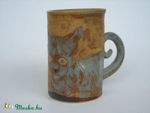 Kopasz macska kőedény bögre 280 ml (nemestimea) - Meska.hu
