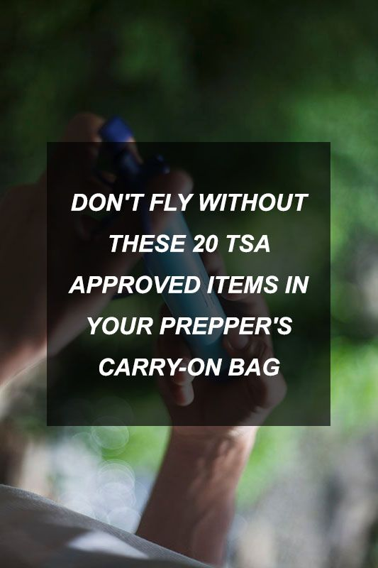Don't Fly Without These 20 TSA-Approved Items in Your Prepper's Carry-On Bag   Survival Shelf   Survival & Preparedness Links
