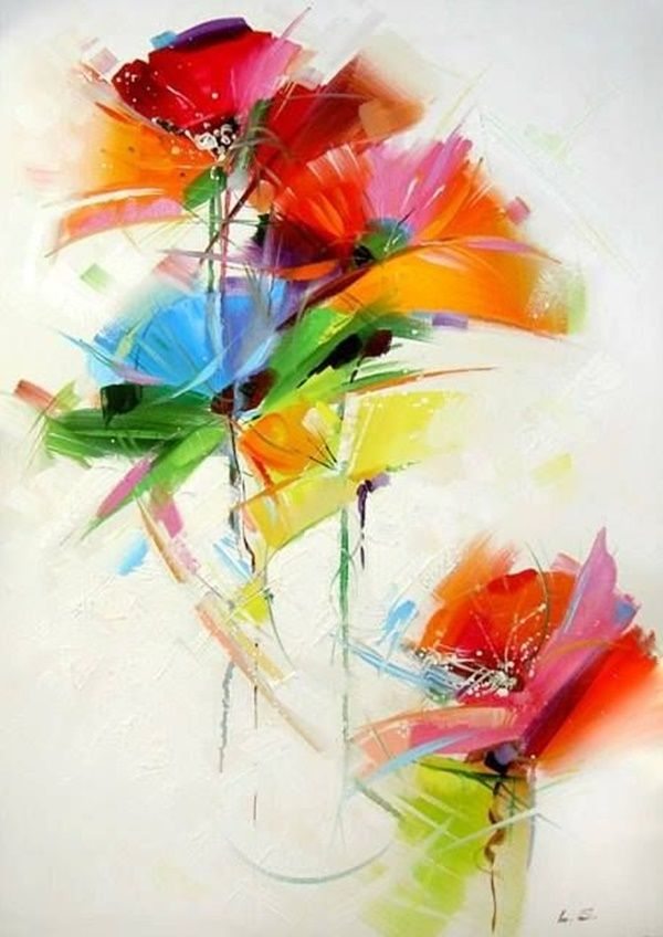 40 More Abstract Painting Ideas For Beginners Flower Art Flower Painting Abstract