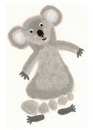 Koala footprint