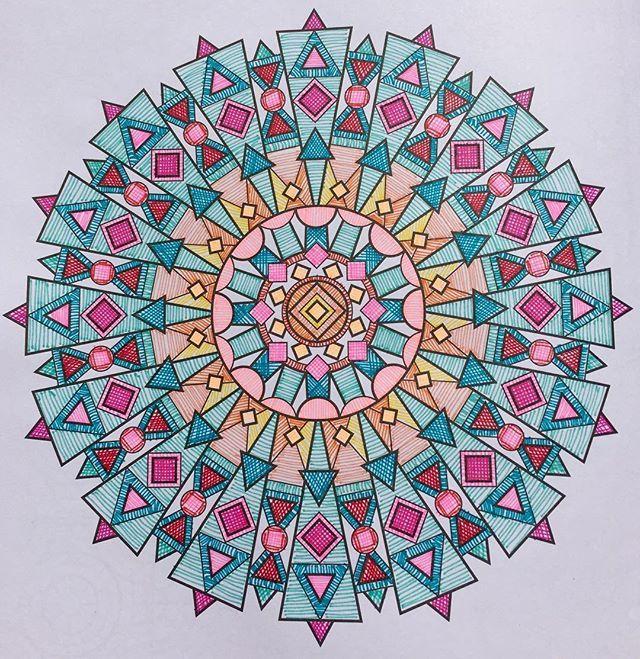 Mandala Do Livro Estampas Magicas Da Jenean Morrison Dedicada Ao Amigo Drinhorj