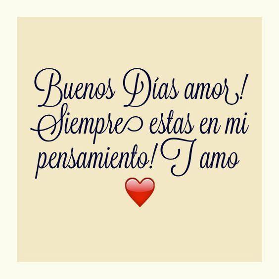 Buenos Dias Amor. http://enviarpostales.net/imagenes/buenos-dias-amor-3/ Saludos de Buenos Días Mensaje Positivo Buenos Días Para Ti Buenos Dias
