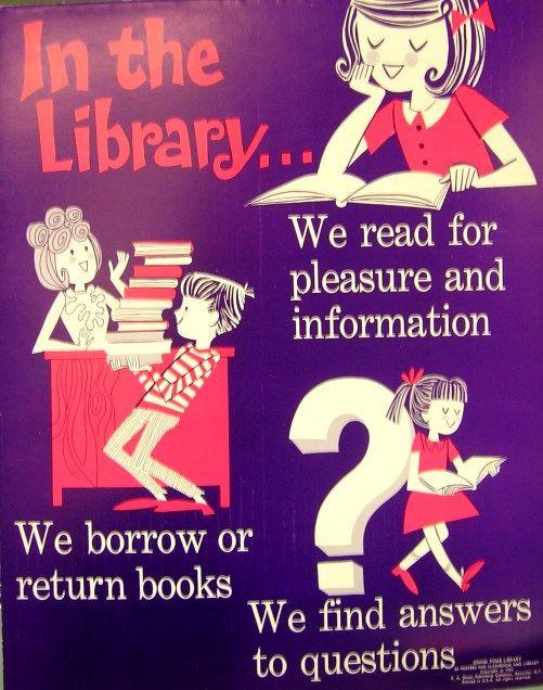 wish list: Retro Libraries, Vintage Libraries, Poster Frame-Black, Libraries Poster, Vintage Poster, Libraries Stuff, Schools Libraries, Vintage Schools, Retro Poster