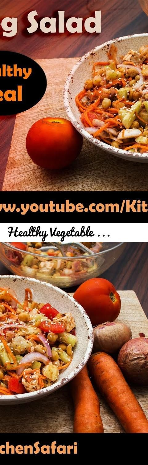 Healthy Vegetable Salad For Fitness Lovers | Recipe by Kitchen Safari... Tags: veg salad, veg salad recipes, veg salad recipes indian, indian veg salad recipes for weight loss, indian salad recipes vegetarian for weight loss, indian salad recipes vegetarian in hindi, how to make veg salad for weight loss, how to make veg salads at home, how to make veg salad in hindi, how to make vegetable salad in hindi, how to make vegetable salad in english, how to make veg salad in tamil, weight gain…