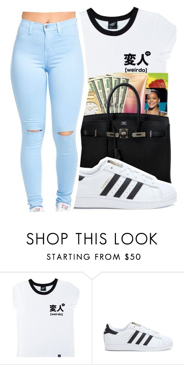 """""""Untitled #430"""" by mindset-on-mindless ❤ liked on Polyvore featuring beauty, Illustrated People and adidas"""