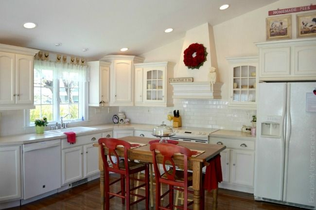 I have a tiny U shaped kitchen, I would like to make the kitchen and Dining room one big open country style kitchen. Open like this but with a farmhouse/rustic  feel to it. With lots of storage space and the new LG Black Stainless Steel appliances.  #LGLimitlessDesign & #Contest