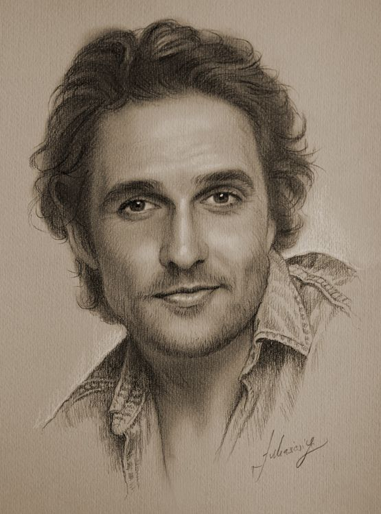 Celebrity Pencil Portraits - Matthew McConaughey