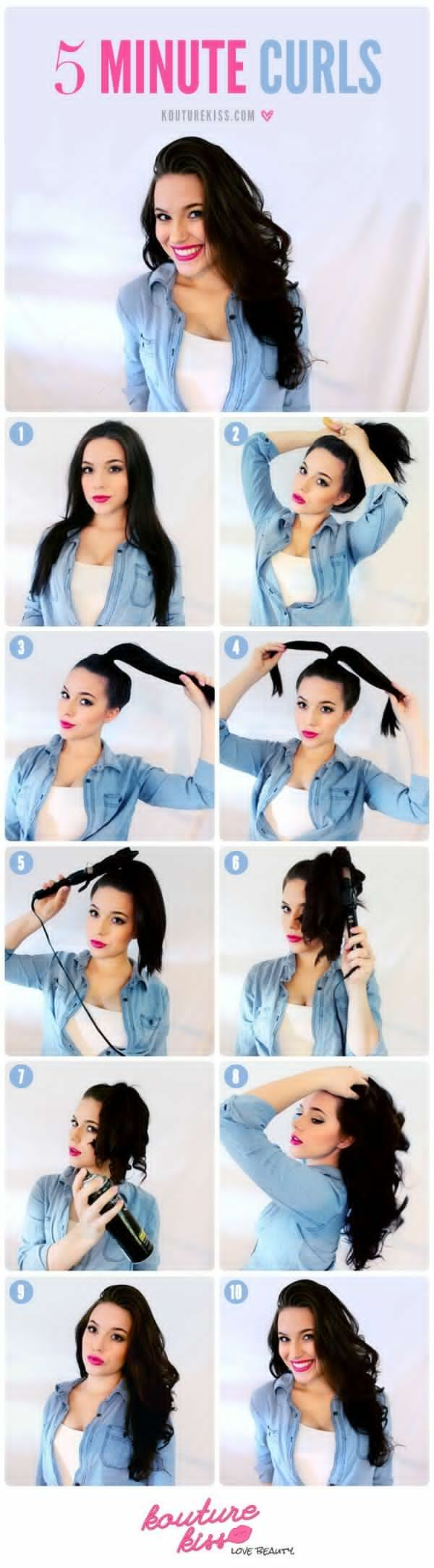 STYLISH And Beautiful Hair Curls That You Can Do In 5 Minutes