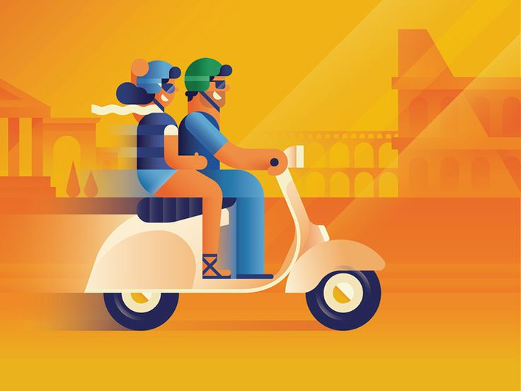 Scooting... by Makers Company #Design Popular #Dribbble #shots
