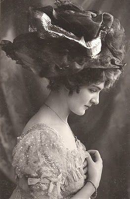 Portrait of a young woman in a hat, ca. 1890-1900.