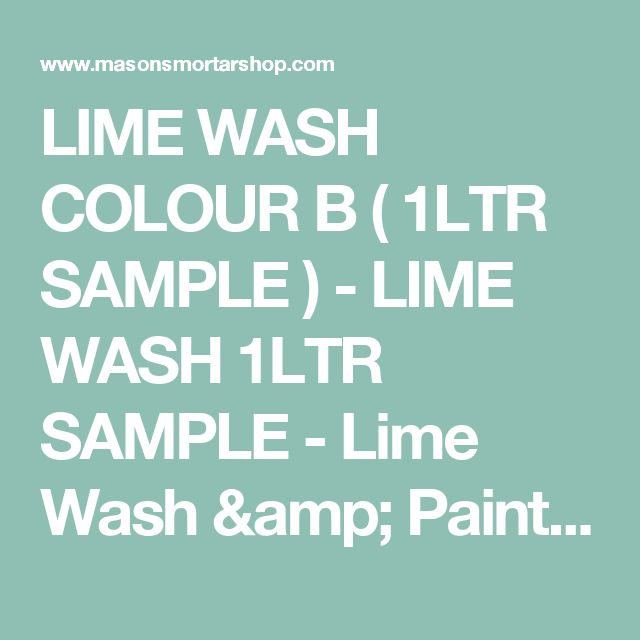 LIME WASH COLOUR B ( 1LTR SAMPLE ) - LIME WASH 1LTR SAMPLE - Lime Wash & Paints - Masons Mortar