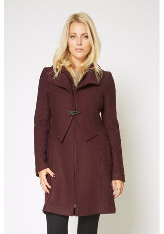 Double Collar Clasp Coat - From Max