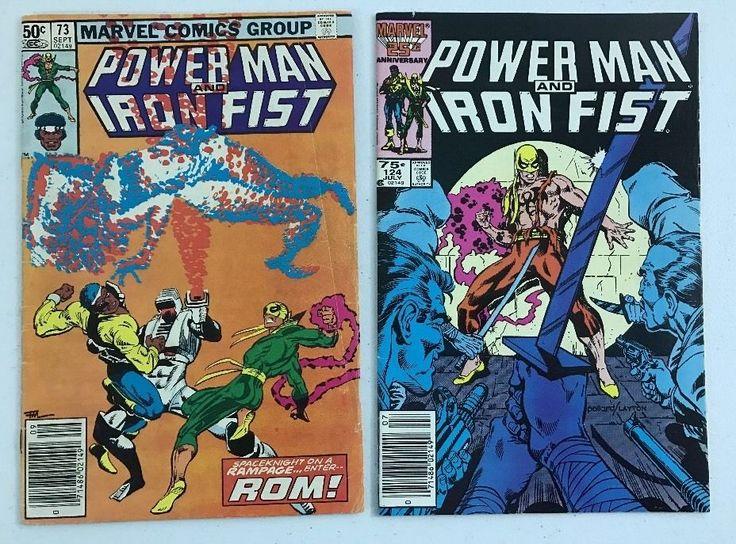 2 POWER MAN And IRON FIST #73 4.0 #124 8.5 NETFLIX TV SERIES Comic Books (2 lot) #eBayDanna