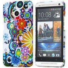 Carcasa HTC One - Ultraligera Flowers 1  Bs.F. 50,38