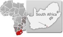 #Map of South Africa with a highlight of Amakhala Game Reserve. For a #Amakhala travel guide visit www.safaribookings.com/amakhala. With best time to visit, reviews, photos and more!