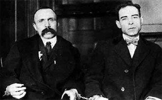 Shoemaker Nicola Sacco, 32, (right) and fish peddler Bartolomeo Vanzetti, 29, were charged with a 1920 double murder and robbery in South Braintree, Massachusetts. Despite flimsy eyewitness testimony and Sacco's corroborated alibi, the Italian-born anarchists were convicted. All requests for a retrial were denied - even after a local hood confessed to the crime in 1925. Their executions, in 1927, sparked worldwide protests.