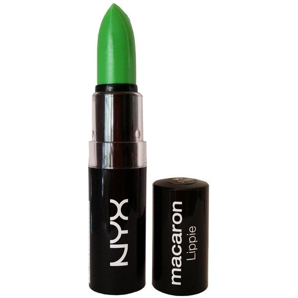 """NYX Macaron Pastel Lippies Lipstick Key Lime MALS03 """"Lime Green"""" 0.16... ($3.45) ❤ liked on Polyvore"""