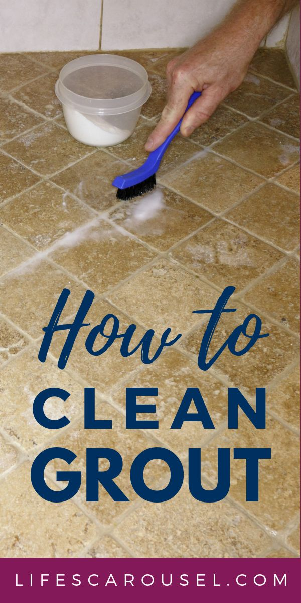 BEST DIY Grout Cleaner - How to clean grout. Find out ...