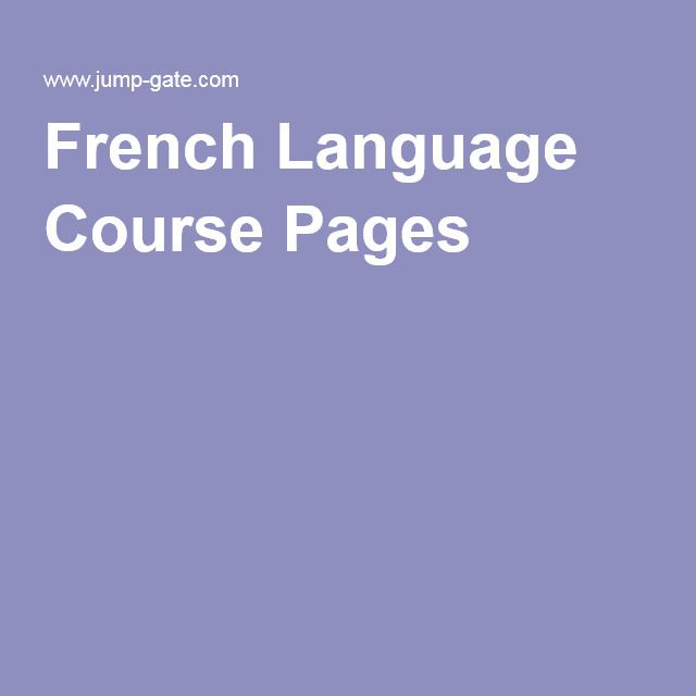 French Language Course Pages