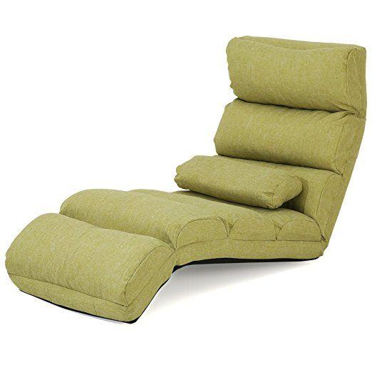 Amazon|LOWYA (ロウヤ) 座椅子 長座椅子 ビッグサイズ 14段階 リクライニング クッション付き ソファ生地 カーキ おしゃれ|リクライニングチェア オンライン通販