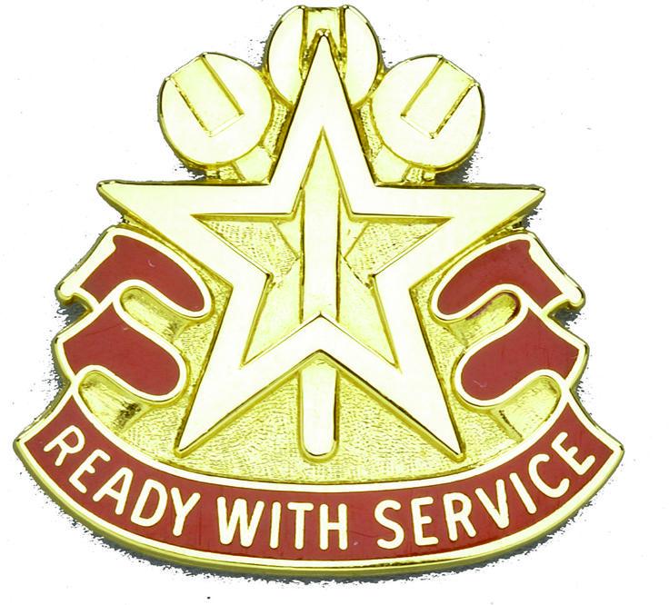 519th Maintenance Battalion Unit Crest (Ready With Service)