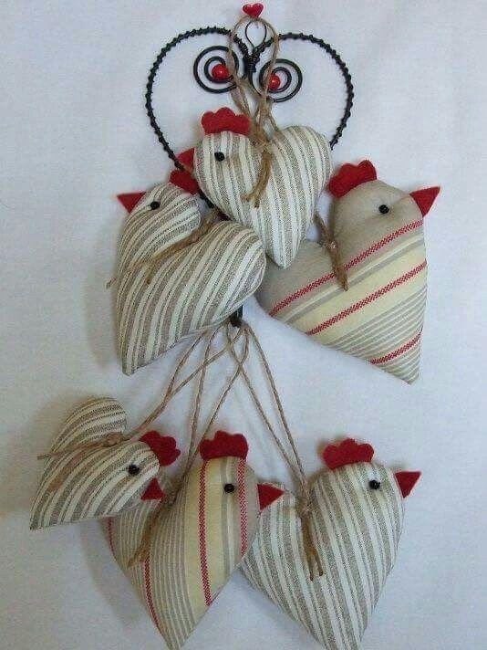 Gallinas en forma de corazon
