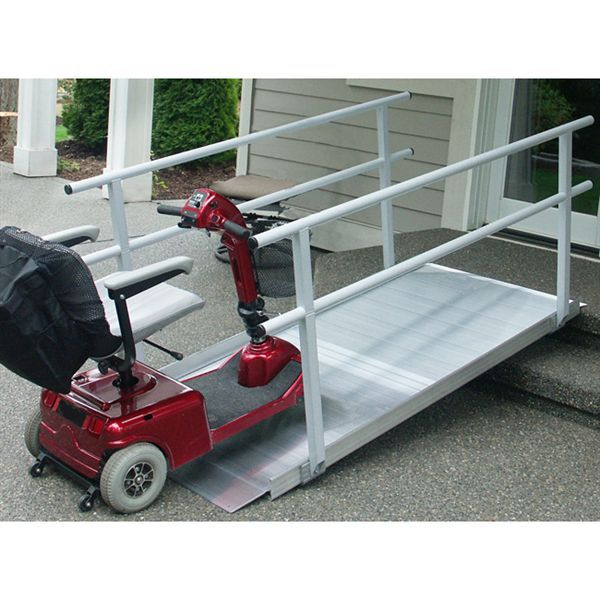 EZ-Access Gateway Aluminum Wheelchair Ramps with Handrails ...