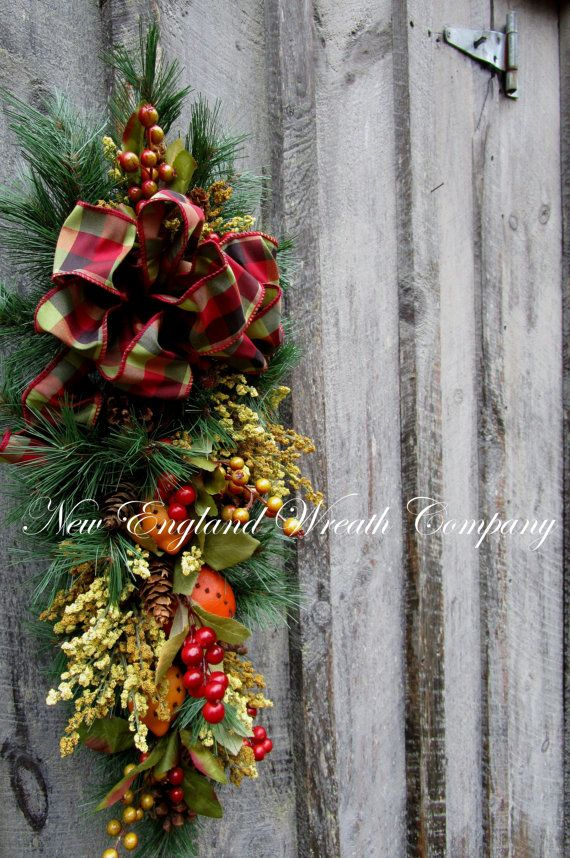 Christmas Swag Holiday Wreath Fruit Swag par NewEnglandWreath