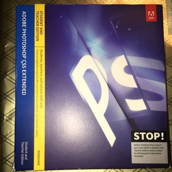 Adobe Photoshop CS5 Extended Student and teacher edition. Never used/downloaded. Box just has some torn corners. Been put away, never got around to downloading it. Adobe Photoshop Other