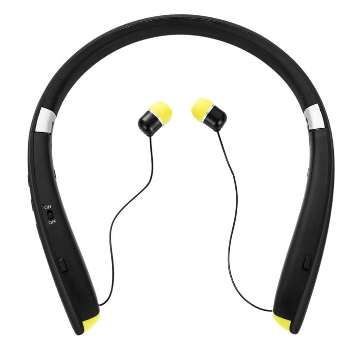 Upgrade version retractable bluetooth headphones - neckband headphones retractable foldable