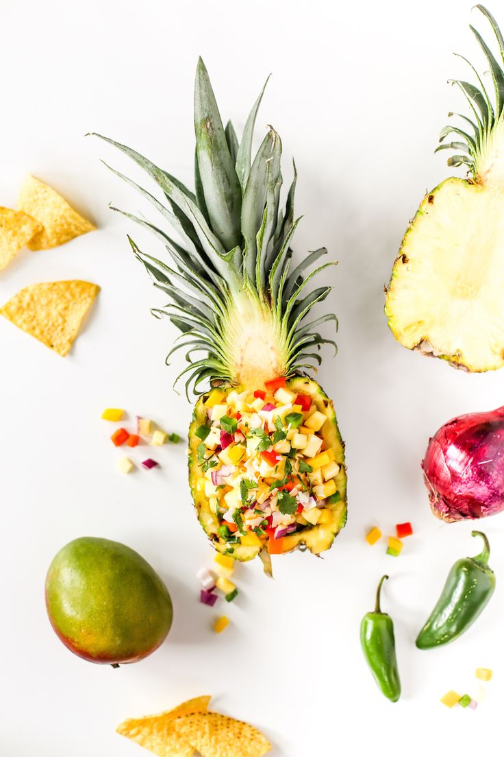 Tropical Pineapple Mango Salsa Recipe // Salty Canary