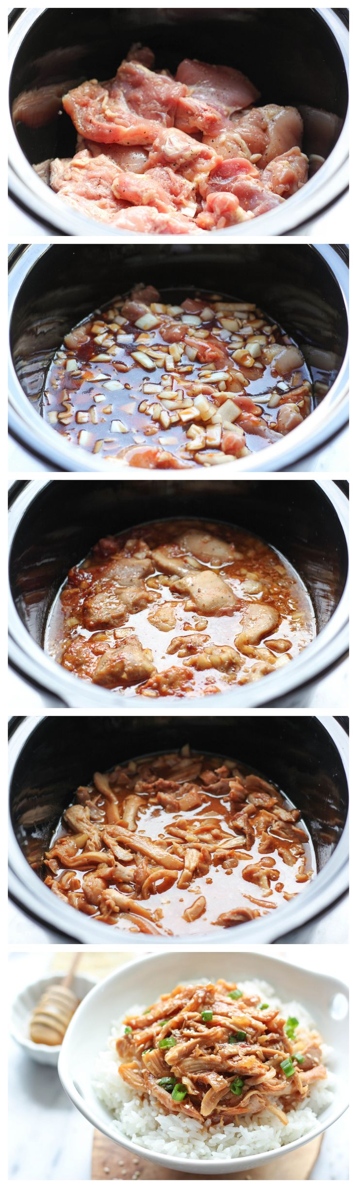 Slow Cooker Honey Sesame Chicken - Simply throw everything in the crockpot for a quick and easy, no-fuss, family-friendly meal!