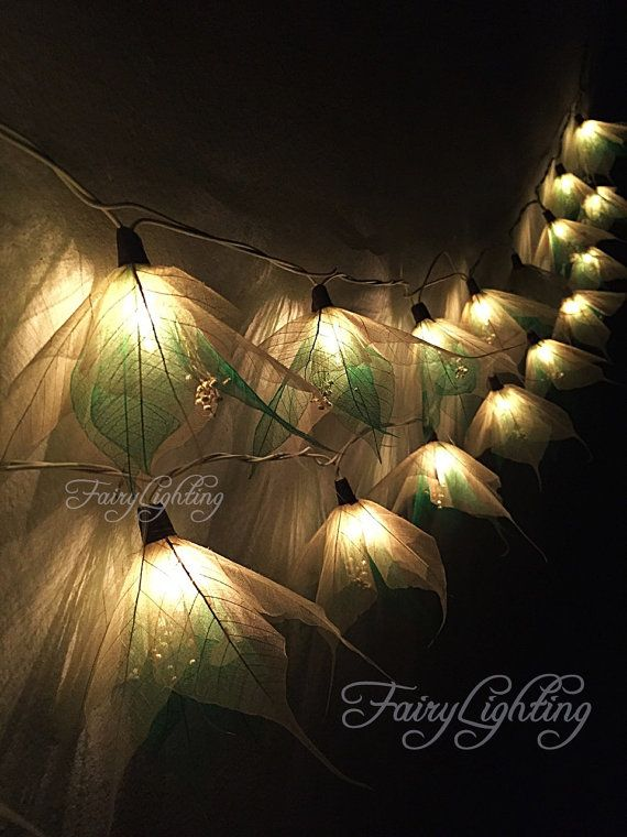 fairy lights 20 whitegreen with pollen flower string lights wedding party home decoration