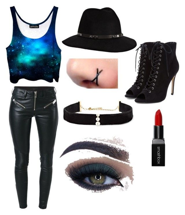 """""""Galaxy girl"""" by mystyleisme on Polyvore featuring Diesel, Anissa Kermiche, Anine Bing, Smashbox and Too Faced Cosmetics"""