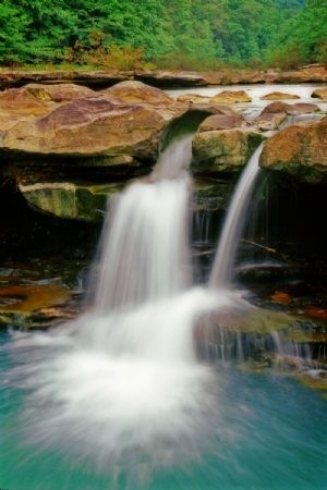 Kings River Falls in Spring, near Eureka Springs - Arkansas Photo Gallery: Arkansas Media Room