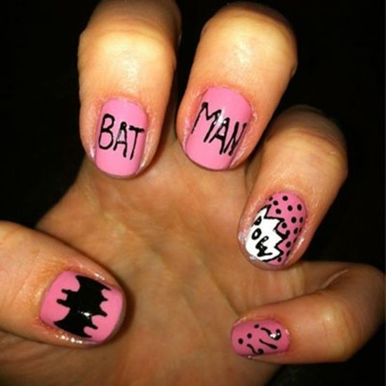 Best 25 batman nail designs ideas on pinterest batman nails 35 designs of batman nail art for batman fans prinsesfo Image collections