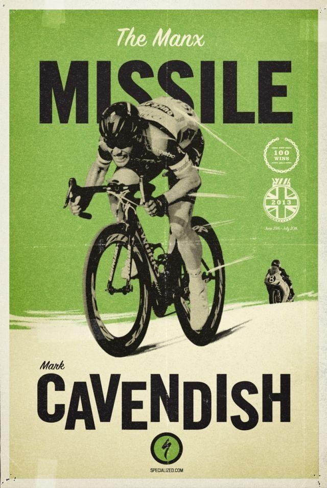 swimbikerunenjoysmile: Mark Cavendish - Specialized poster