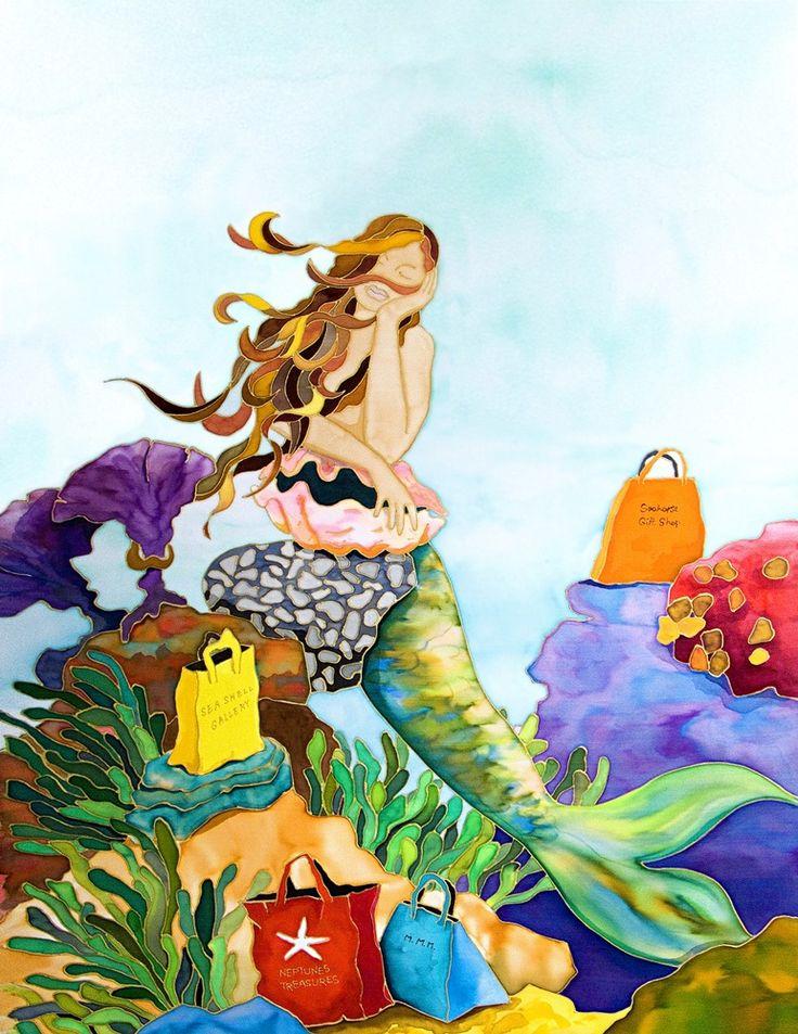 Shopping Makes You Tired Caribbean Artwork Sirenitas