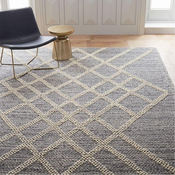 Argyle Sweater Rug - Platinum