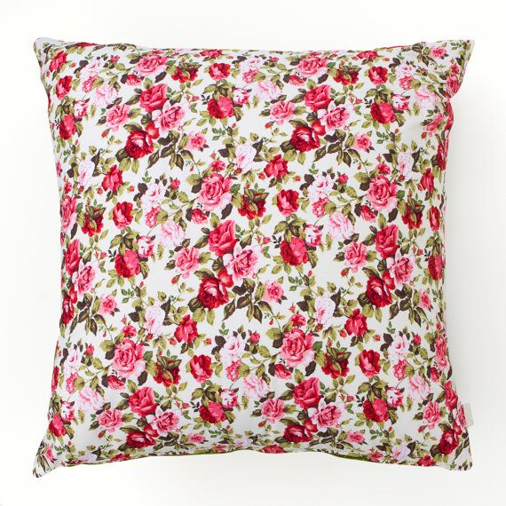Green Cushion with Floral Elephant 45cm x 45cm by masouri on Etsy