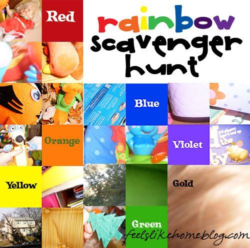 This is such a clever idea for a preschooler scavenger hunt. We are going to do this tonight!