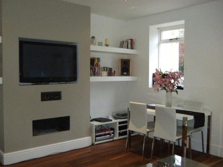 Tv on chimney breast ideas google search renovation for What size tv do i need for a 12x15 room