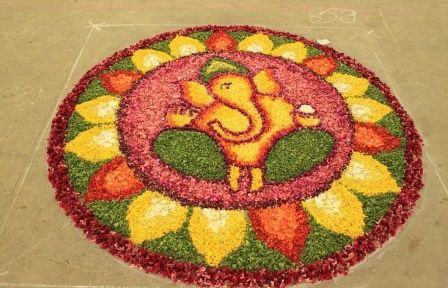 Rangoli using Flower Petals #FlowerRangoli