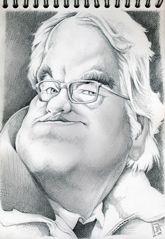 Philip Seymour Hoffman (pencil caricature) by IvandelRio